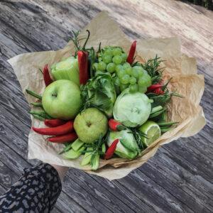 vitamiini pomm #7. Köögiviljakimp. Söödavad lillekimbud Tartus.