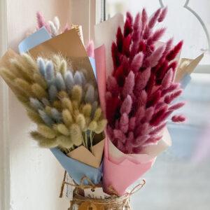 kimp pehmetest jänesesabadest GENTLE SPRING-5290-2. Stabiliseeritud lilled. DecoRento