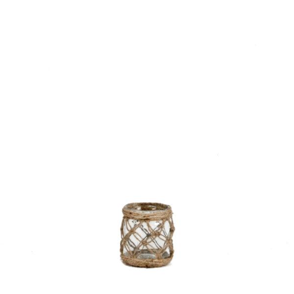 Makrameega kaunistatud purk