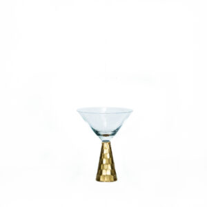 Vaas Martini klaasi kujuga. Kuldne